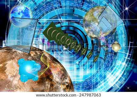 Science.Research Cosmos.Digital telecommunications technology