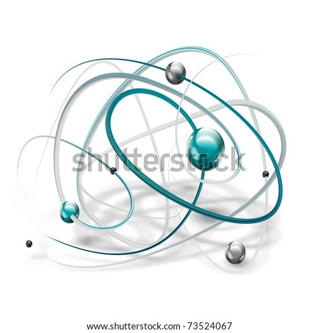 science symbol with abstract molecule on a white background