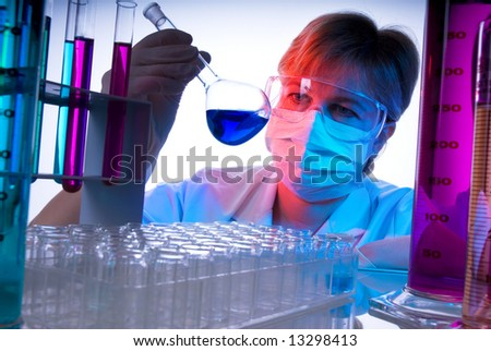 science technician at work in the laboratory