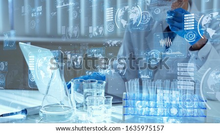 Science technology concept. Research and Development. Drug discovery.