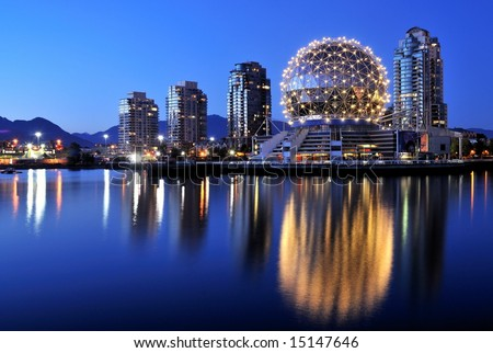 Science World at night, Vancouver,Canada