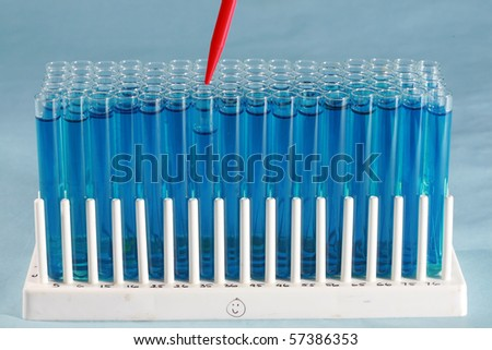 scientific and medical research test tubes filled with various chemicals for research and experiments to make life better for all