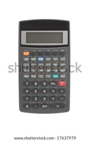 Scientific calculator isolated over white
