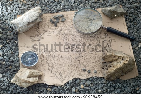 scientific expedition - stock photo
