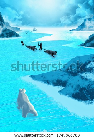 Scientific expedition to the North Pole. Stock photo ©