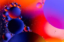 Scientific image of cell membrane. Macro up of liquid substances. Abstract molecule atom sctructure. Water bubbles. Macro shot of air or molecule. Biology, phycics or chymistry abstract background