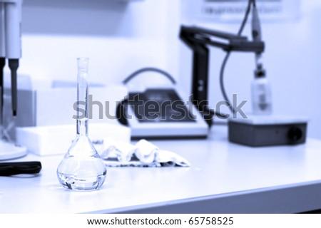 Scientific research concept - in the lab