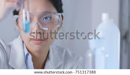 Scientist observation about test tube