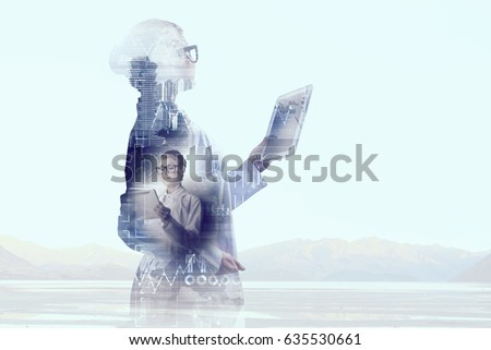 Scientist woman doing research