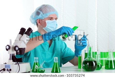 scientist working in chemistry laboratory