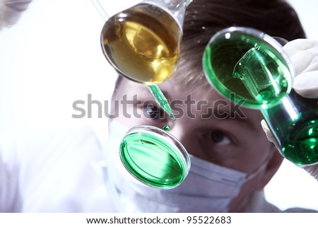 Scientist working in his  laboratory