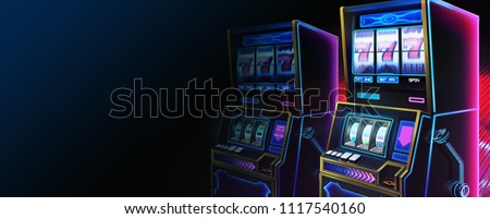SciFi Slot Machine, Website Header, Serious Themes with Fantastic, Realistic and Futuristic Style. Video Game's Digital CG Artwork, Concept Illustration, Realistic Cartoon Style Scene Design Stockfoto ©