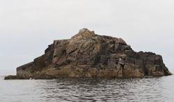 Scilly Rock, a Granite Outcrop, one of the Northern Rocks in the Archipelago of the Isles of Scilly off the South Western Tip of Cornwall in the North Atlantic Ocean