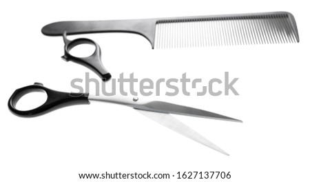 Scissors for haircuts isolated on a white background.