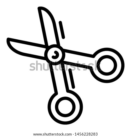 Scissors icon. Outline scissors icon for web design isolated on white background