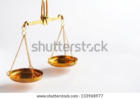 sclaes with copyspace showing law justice or court concept