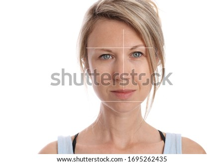 Scoliosis face asymmetry. Orthodontics and Posture Corection Foto stock ©
