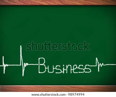 Scool blackboard with business Finance