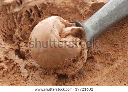 scoop of chocolate ice cream