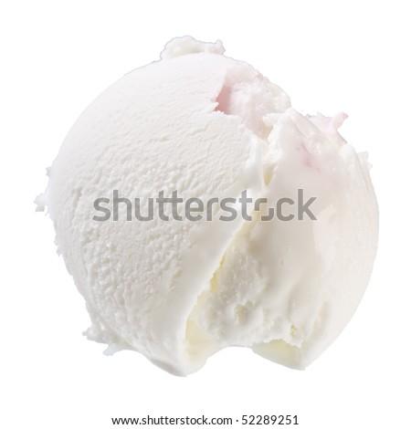 Scoop of vanilla ice cream - stock photo