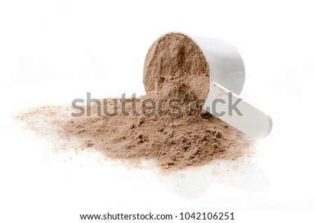 Scoop of Whey protein powder. Sports nutrition. #1042106251