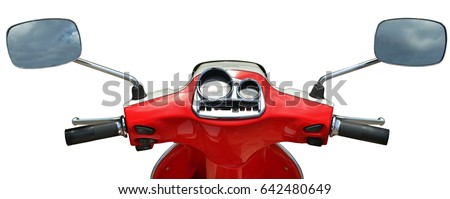 Scooter isolated on white background of red color #642480649