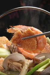 Scorched Rice with Spicy Seafood Stew (1)