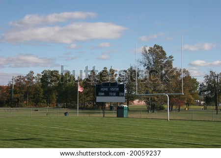 score board at football field