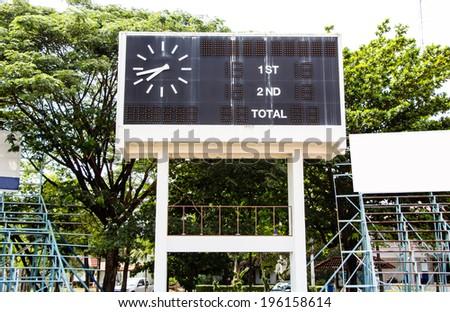 score board at stadium