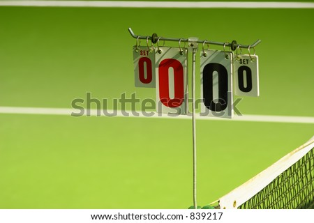 Score cards on a tennis court  (exclusive at shutterstock)
