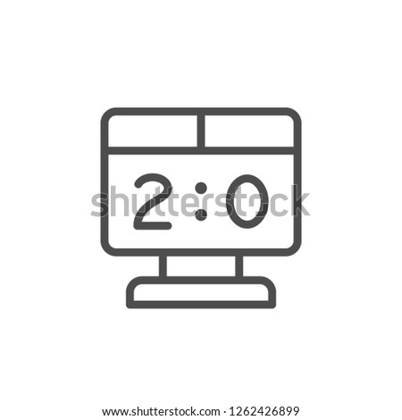 Scoreboard line icon isolated on white