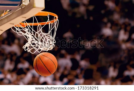 Photo of  Scoring the winning points at a basketball game