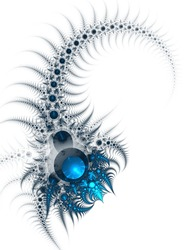 Scorpio - zodiac sign, abstract fractal artwork