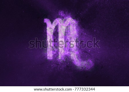 Scorpio Zodiac Sign. Night sky Abstract background