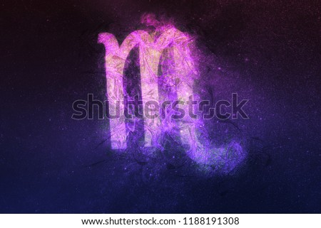 Scorpio Zodiac Sign. Night sky background