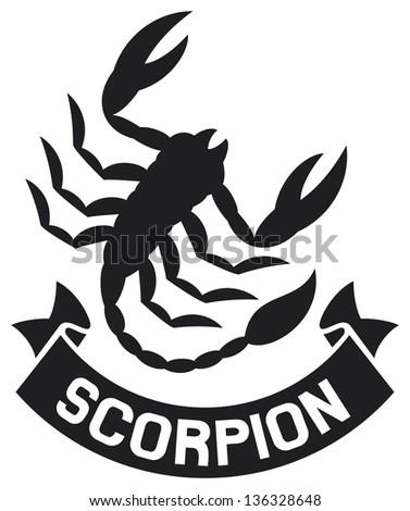 scorpion label (scorpion symbol)