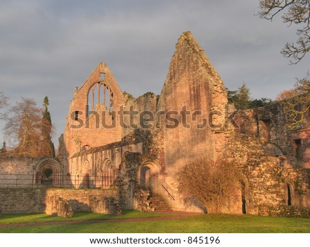 Scotland Abbey Stone Ruins - stock photo