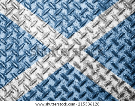 Scotland flag on grunge wall