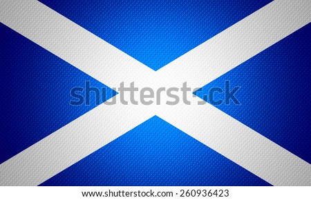 Scotland flag or Scottish banner on abstract texture