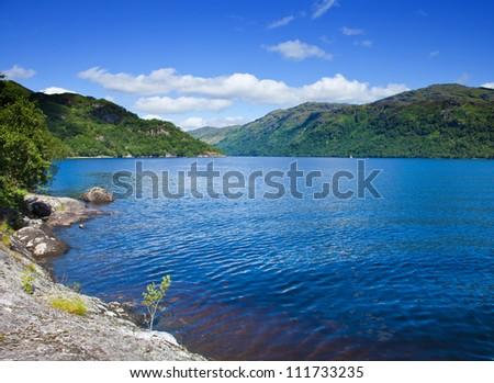 Scotland, loch lomond in summer