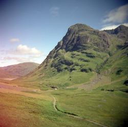 Scotland photographic collection made with film Holga camera.