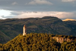 scotland wallace monument in the landscape