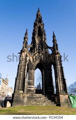 Scott monument. Edinburgh, Scotland, United Kingdom