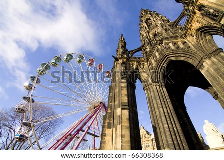 Scott Monument - wintertime Edinburgh