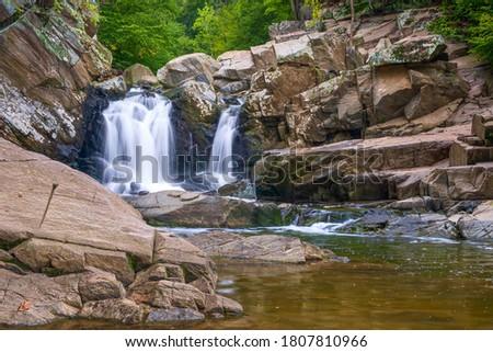 Scott's Run waterfall. Scott's Run Nature Preserve. Fairfax County. Virginia. USA ストックフォト ©