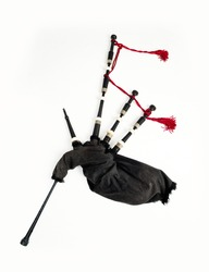Scottish Bagpipe on a white background