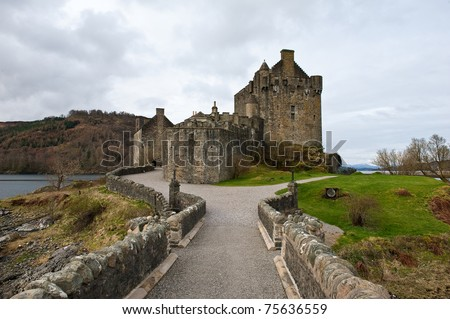 Scottish castle from the entrance