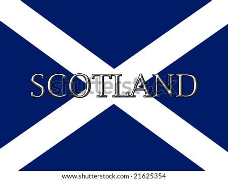 stock photo : scottish flag