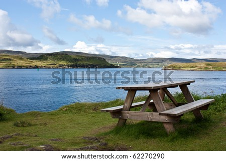 Scottish landscape  - Isla of Skye. Conceptual of rest and relax