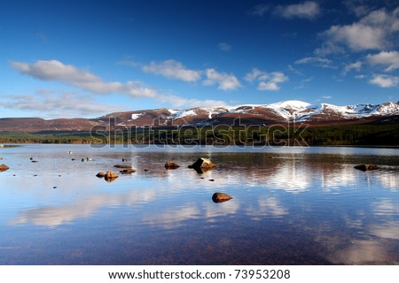 Scottish Loch - Loch Morlich, Cairngorm National Park, Scotland